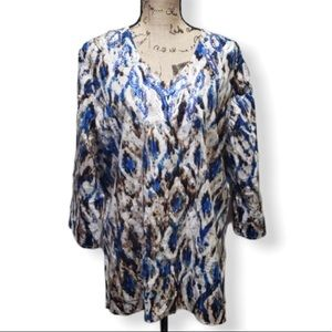 {Chico's} Abstract Print Blouse